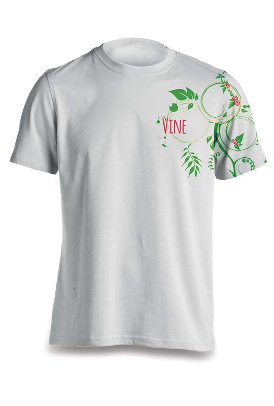 Dye sublimated Tee T-shirt printed in Santa Barbara